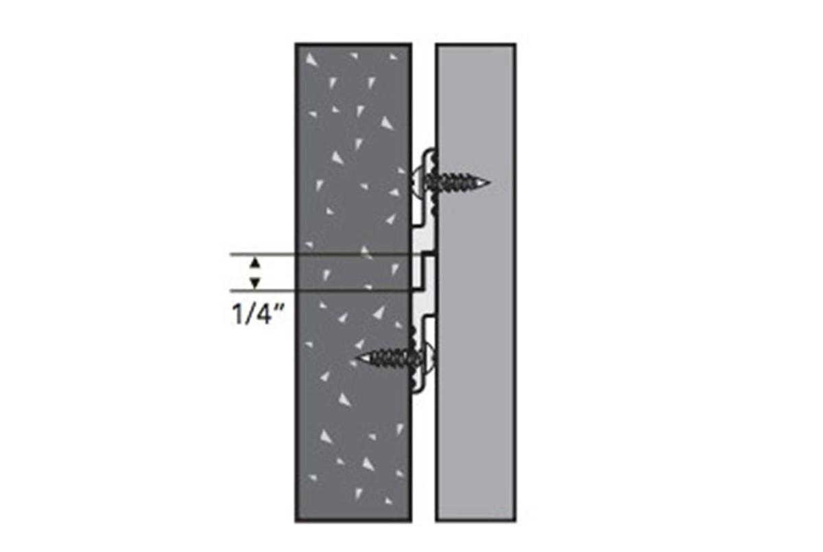 Hdc Mf 250 Z Clip For Wall Mounting Interpretation Panels